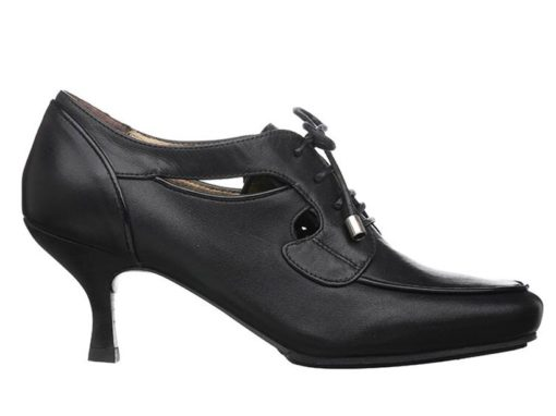 San Francisco Lace-up Shoes With Heels  |  Black