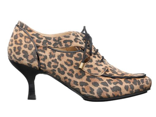 San Francisco Lace-up Shoes With Heels  |  Leopard