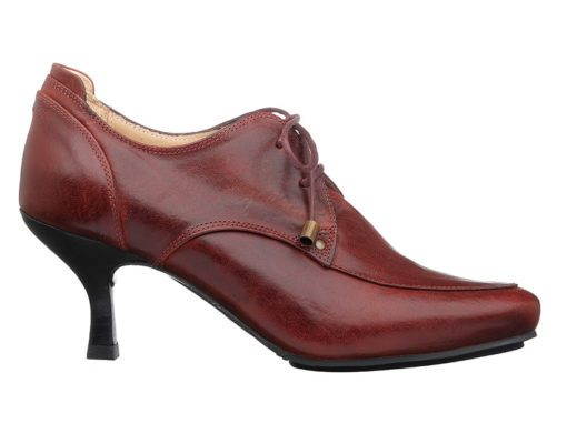 Washington Lace-up Shoes With Heels  |  Maroon