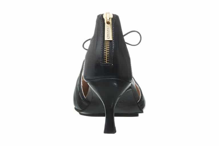 Sintra Pumps i sort med dekorative stikninger fra Barbro Shoes 4