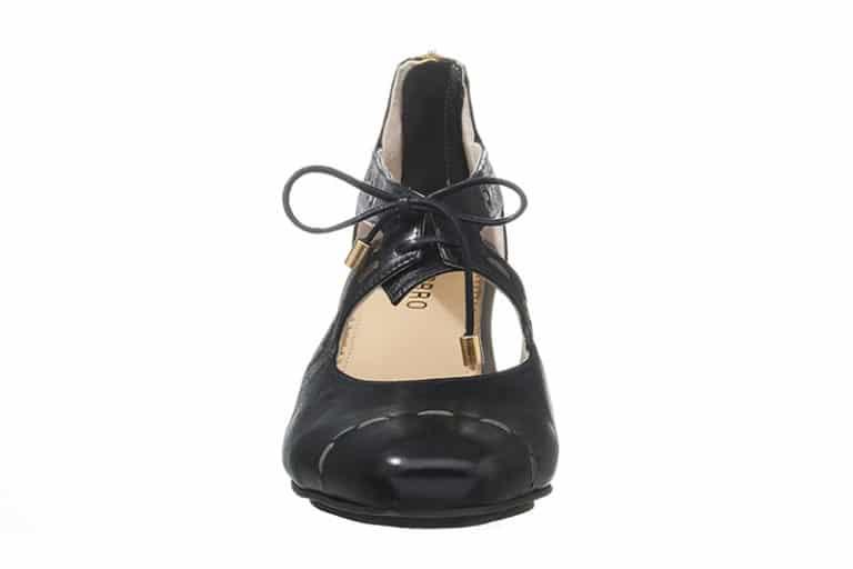 Sintra Pumps i sort med dekorative stikninger fra Barbro Shoes 3
