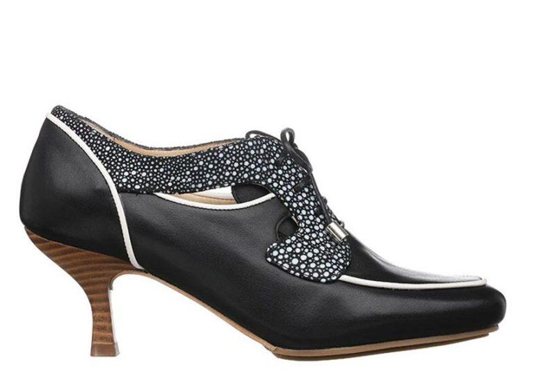 San Francisco pumps Sort med prikker fra Barbro Shoes