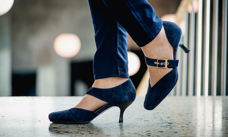 Windsor Pumps i Blå fra Barbro Shoes