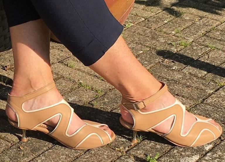 Firenze Sandaler Beige og hvid