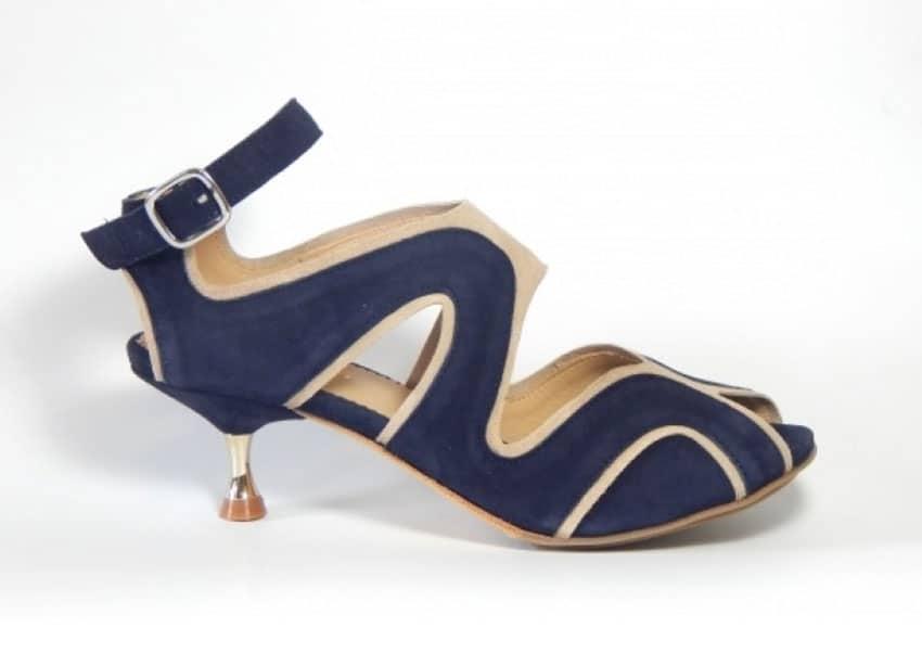 Firenze Sandaler Blå og Beige