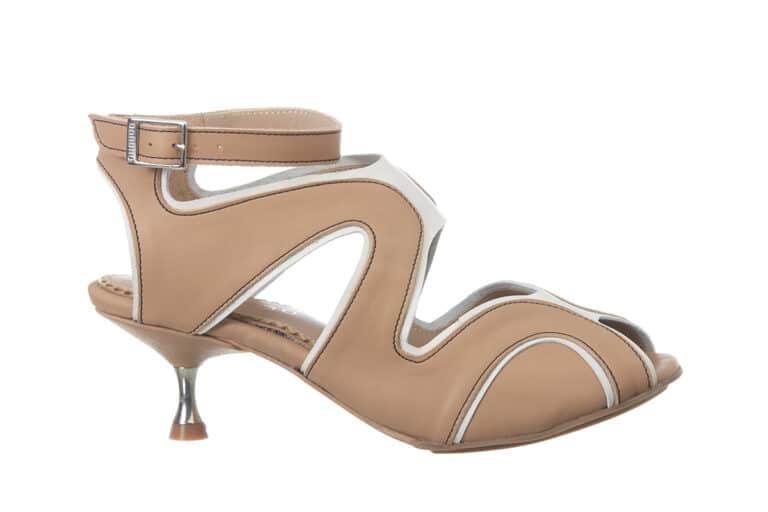 Firenze Beige sandal fra Barbroshoes