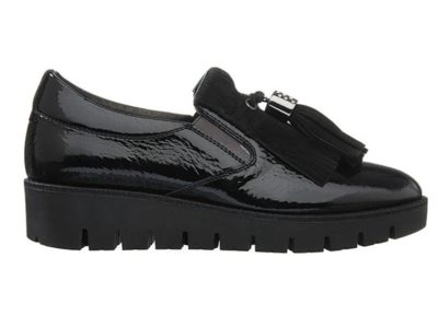 Sneakers DLSport Sort lak med kvaster