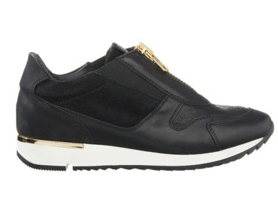Sneakers DLSport Sort med gulddetaljer Barbro Shoes