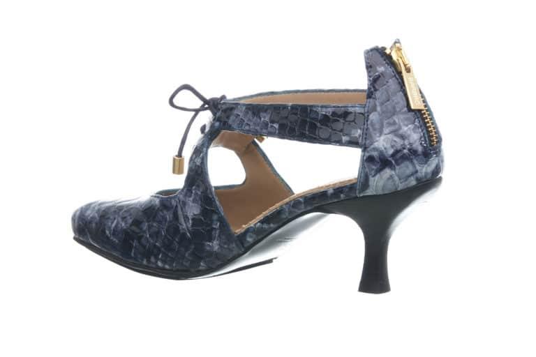 BARBRO Shoes-pumps-blaa-crocco-side